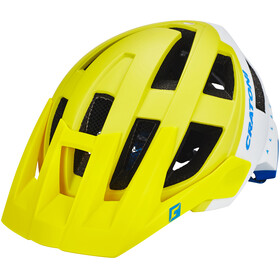 Cratoni AllSet Helmet lime-white-blue matt